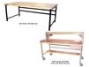 HEAVY-DUTY TUBULAR FRAMEWORK DOUBLE STRINGER WORK BENCHES - FULLY ACCESSORIZED BENCHES